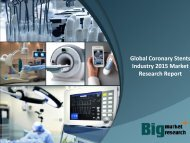Global Coronary Stents Industry 2015 Market Research Report