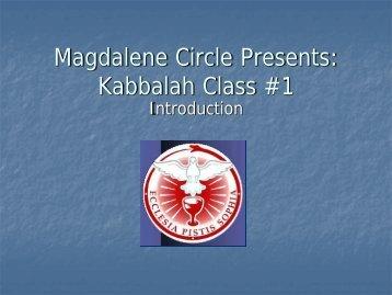Kabbalah Class #1 - Magdalene Circle