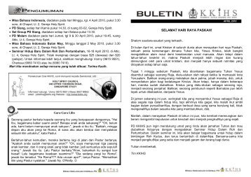 Buletin April - KKIHS