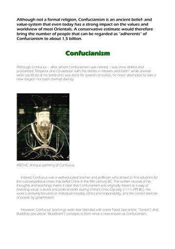 Confucianism - Philadelphiaproject.co.za