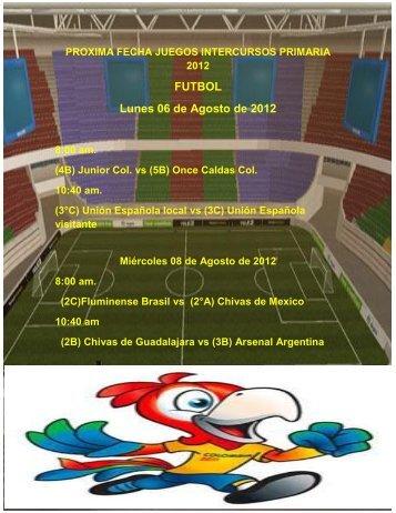 FUTBOL Lunes 06 de Agosto de 2012
