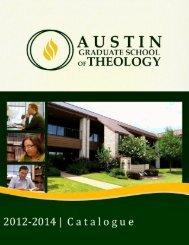 Catalogue - Austin Graduate School of Theology