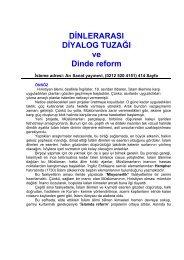 DİNLERARASI DİYALOG TUZAĞI ve Dinde reform - Mehmet Oruç