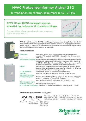 HVAC Frekvensomformer Altivar 212 - studiecd.dk