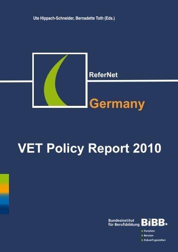 VET Policy Report Germany - BiBB