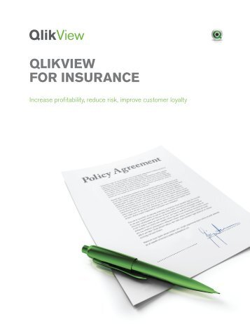 QLIKVIEW FOR INSURANCE