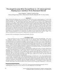 Wavelength Invariant Bi/In Thermal Resist As A Si Anisotropic Etch ...