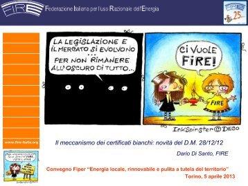 Nuove regole per i Certificati Bianchi secondo il D.M. 28 ... - Fiper
