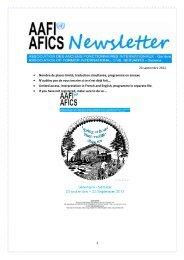 newsletter locale 24 septembrel 2012 - AAFI-AFICS, Geneva - UNOG