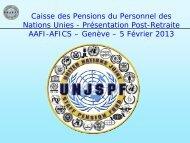 pension de retraite - AAFI-AFICS, Geneva