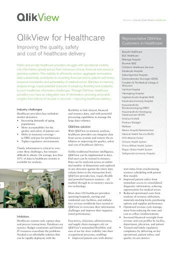 QlikView for Healthcare