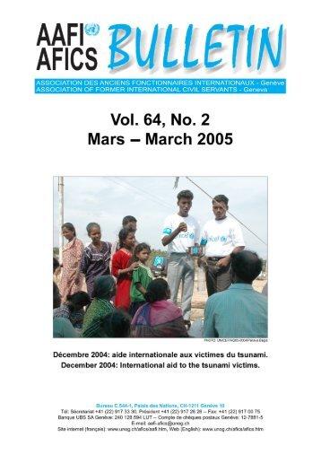 Bulletin Vol. 64 no. 2 - AAFI-AFICS, Geneva - UNOG