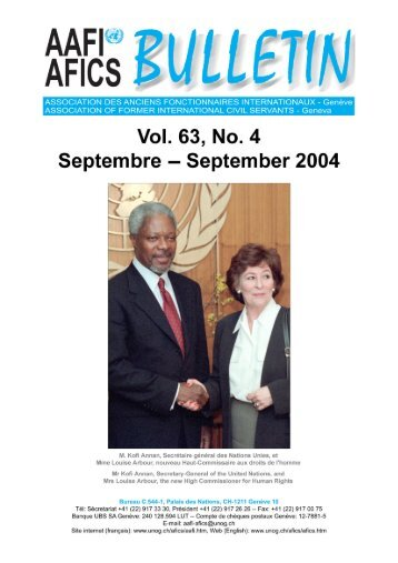 VOL. 63, NO. 4 Septembre – September 2004 - AAFI-AFICS, Geneva