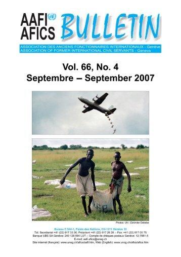 VOL. 66, NO. 4 - AAFI-AFICS, Geneva - UNOG