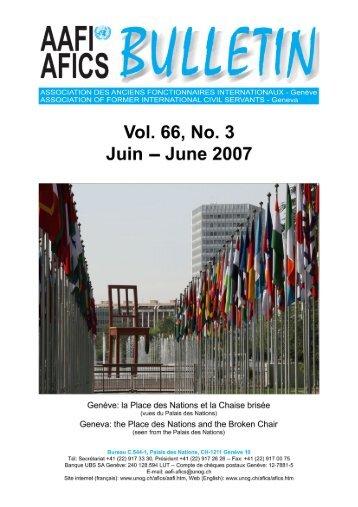 VOL. 66, NO. 3 - AAFI-AFICS, Geneva - UNOG