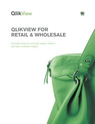 QLIKVIEW FOR RETAIL & WHOLESALE