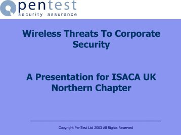 Wireless Security Presentation