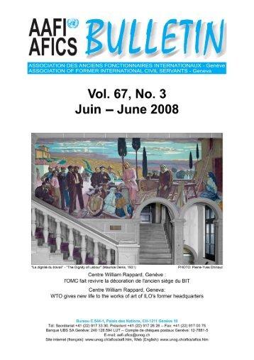 VOL. 67, NO. 3 - AAFI-AFICS, Geneva - UNOG