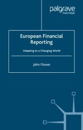 European Financial Reporting: Adapting to a Changing World