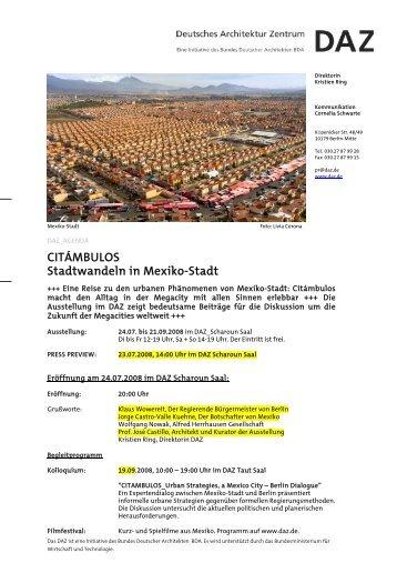 CITÁMBULOS Stadtwandeln in Mexiko-Stadt - Alfred Herrhausen ...