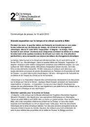 Communiqué de presse, le 19 août 2010 Grande exposition sur le ...