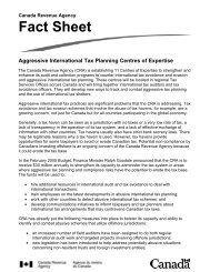 Fact Sheet Aggressive International Tax Planning Centres of Expertise
