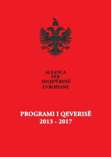programi i qeverise per vitet 2013 - 2017