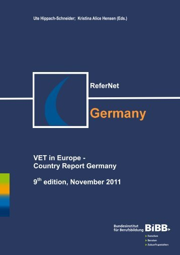 ReferNet VET in Europe - Country Report Germany 9 edition ...