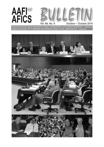 VOL. 69, NO. 4 Octobre -- October 2010 - aafi-afics - UNOG
