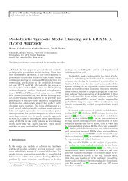 Probabilistic Symbolic Model Checking with PRISM - Quantitative ...