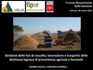 Gestione logistica della raccolta di biomasse - Fiper