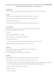 1. Définition 2. But 3. La lecture. 4. Forme. 5. Plan.