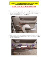 door trim removal diy guide - Australian Nissan X-Trail Forum and ...