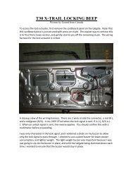 T30 X-TRAIL LOCKING BEEP