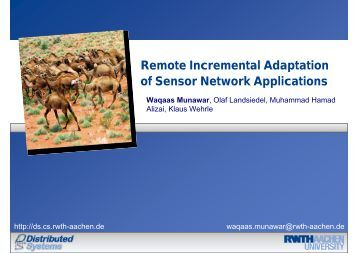 Remote Incremental Adaptation of Sensor Network Applications