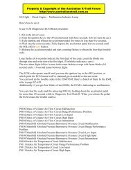 ECM Diagnostics-ECM Reset Procedure - Australian Nissan X-Trail ...