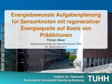 Präsentation - Institut für Telematik - TUHH