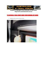 t31 nissan x-trail front door trim removal diy guide - Australian ...
