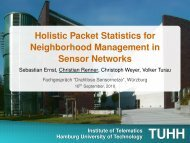 Holistic Packet Statistics for Neighborhood Management in ... - TUHH