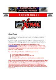 FORUM RULES - Australian Nissan X-Trail Forum and Store