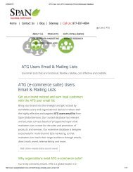 Get Prepackaged ATG User Lists from Span Global Services