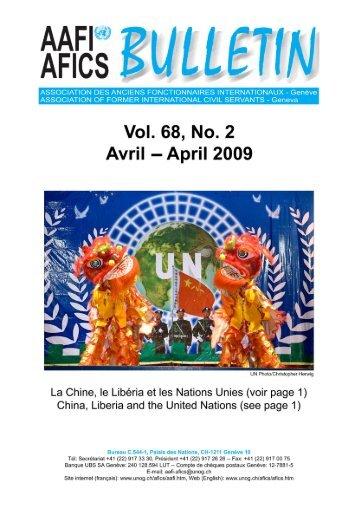 VOL. 68, NO. 2 - AAFI-AFICS, Geneva - UNOG