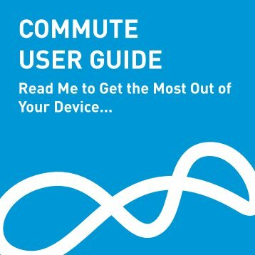 COMMUTE USER GUIDE - BlueAnt Wireless