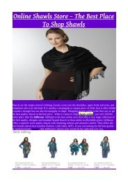 Online Shawls Store – The Best Place To Shop Shawls