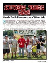 Shoals Youth Bassmasters on Wilson Lake - Southern Fishing News