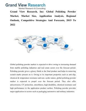 Polishing Powder Market To 2022- Industry Trends, Forecast: Grand View Research, Inc.