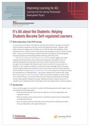It's All about the Students: Helping Students ... - Literacy Online