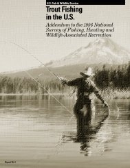Trout Fishing In The U.S. - Wildlife and Sport Fish Restoration Program