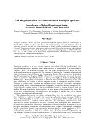 GST M1 polymorphism lacks association with Handigodu syndrome