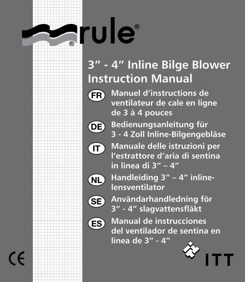"3"" - 4"" Inline Bilge Blower Instruction Manual"